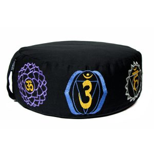 Luxury Meditation Cushion – Black Chakra