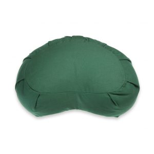 Crescent Meditation Zafu – Dark Green