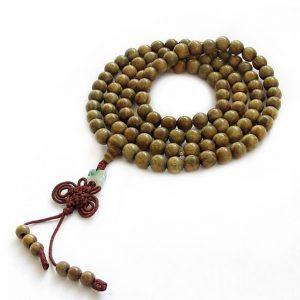 Green Sandalwood Japamala / Wrist-wrap