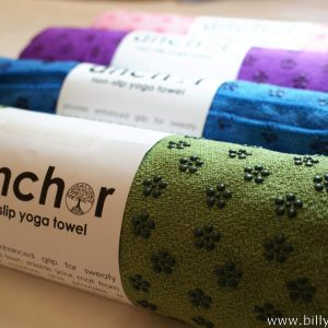 Anchor Yoga Non Skid Towel With Free Carry Bag - Green