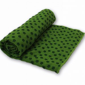 Anchor Yoga Non Skid Towel With Free Carry Bag – Green