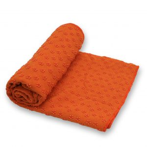 Anchor Yoga Non Skid Towel With Free Carry Bag – Orange