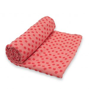 Anchor Yoga Non Skid Towel With Free Carry Bag – Pink