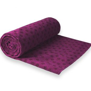 Anchor Yoga Non Skid Towel With Free Carry Bag – Purple