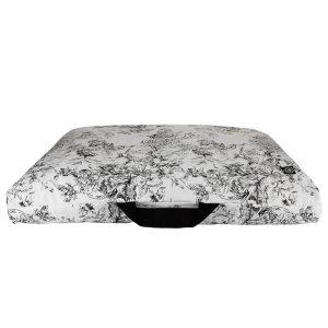 Maxi Zabuton Meditation Cushion (futon) – Black Flower