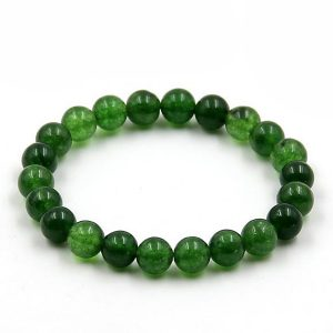Buddhist Prayer Bracelet Green Jade