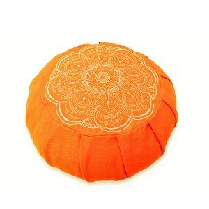 Round Meditation Zafu – Citrus Mandala Buckwheat