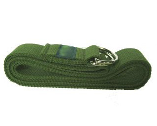cotton yoga strap - green