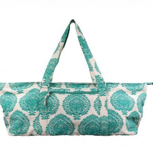 Deluxe Soothing Green Jute Yoga Kit Bag