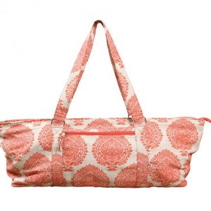 Deluxe Warm Orange Jute Yoga Kit Bag