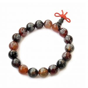 Dream Agate Lotus Buddhist Prayer Bracelet