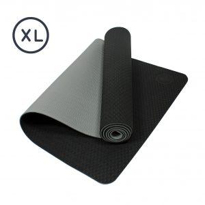 Eco Sticky Yoga Mat – Black/Grey XL