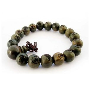 Green Sandalwood Buddhist Prayer Bracelet