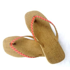 Jute 'chapellen' Yogi Slippers – Citrus