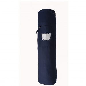 Yoga Mat Bag Navy Lotus