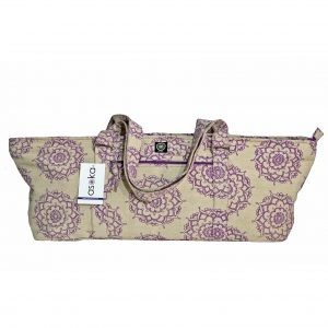 Deluxe Violet Mandala Jute Yoga Kit Bag