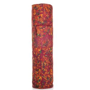Batik Yoga Mat Bag – Maroon Leaf