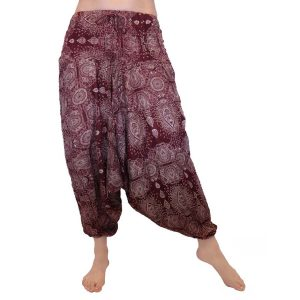 Indian Gypsy Harem Pants – Maroon Paisley