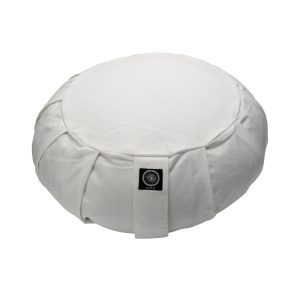 Round Meditation Zafu – White Buckwheat