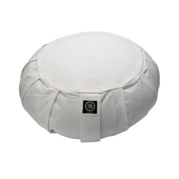 Meditation Cushion White Zafu Web