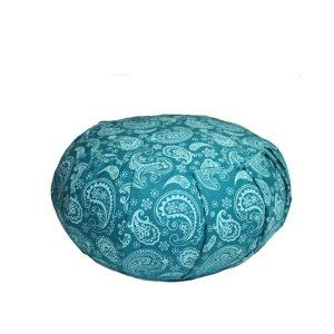 Round Meditation Zafu – Blue Paisley