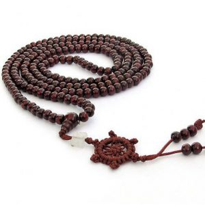 216 Beads Japamala/wrist Wrap Sandalwood Red/purple