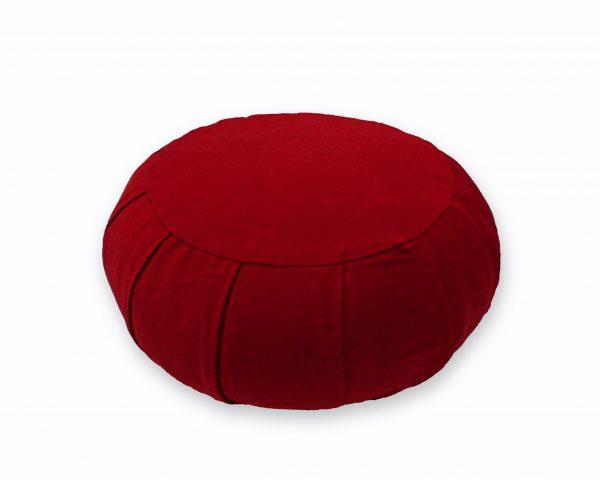 round meditation zafu - burgundy (kapok)
