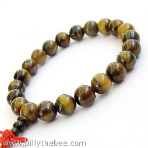 Tiger Eye Buddhist Prayer Bracelet