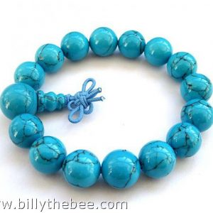Turquoise Buddhist Prayer Bracelet