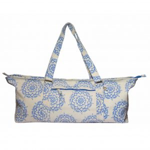 Deluxe Blue Mandala Jute Yoga Kit Bag