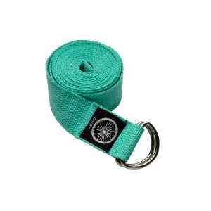 Cotton Yoga Strap – Turquoise