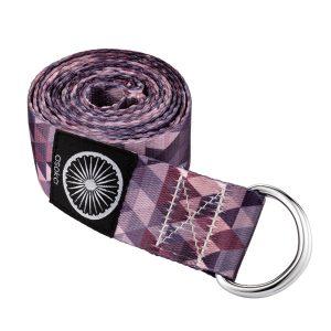 Yoga Strap – Geo Purple