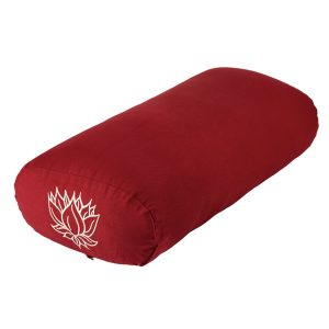 Maxi Rectangular Yoga Bolster – Burgundy Lotus