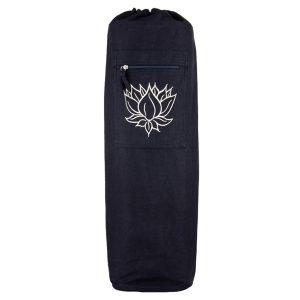Yoga Mat Bag Black – Lotus Outline