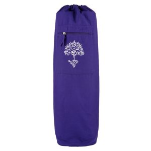 Yoga Mat Bag Violet – Tree Of Life (white)