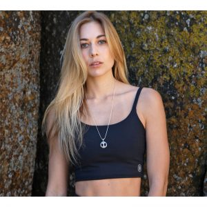 Maxi Cross Yoga Crop Top – Night