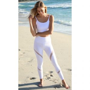 Dapple Mesh Snow – Full Length Yoga Leggings