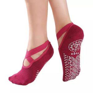 Anti Skid Yoga Socks – Fuschia Pink